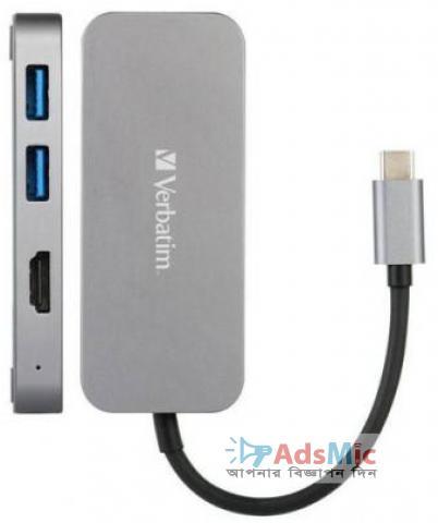 Verbatim Multiport Hub USB-C USB-3 & 4K HDMI