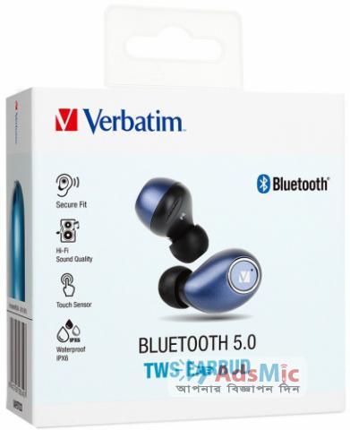 Verbatim Bluetooth 5.0 Touch Sensor Earbud