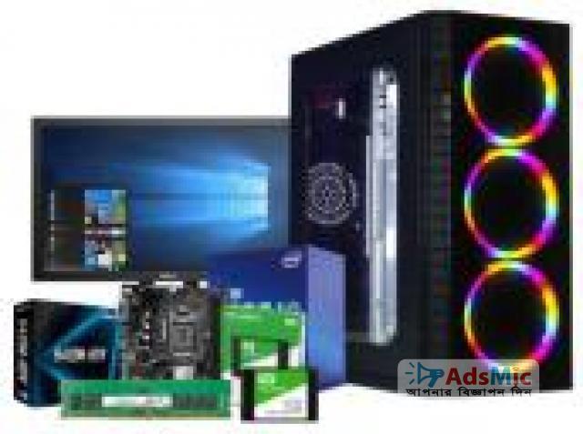 """Desktop PC Core i3 10th Gen 120GB SSD 19"""" Dell Monitor"""