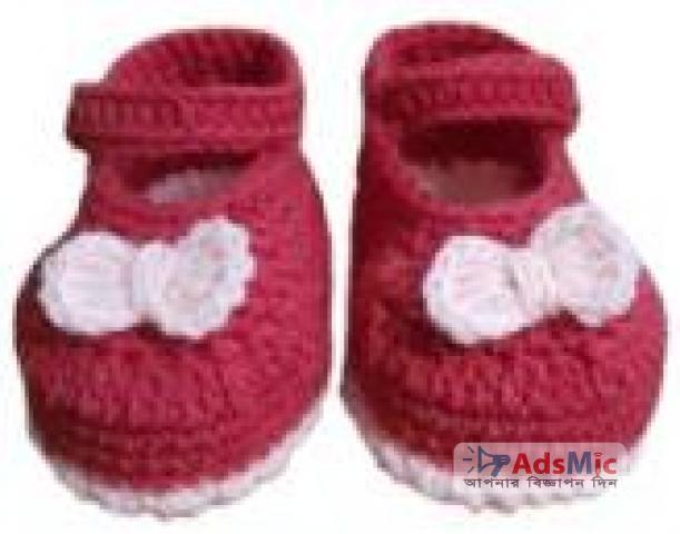 Baby Shoe Maroon
