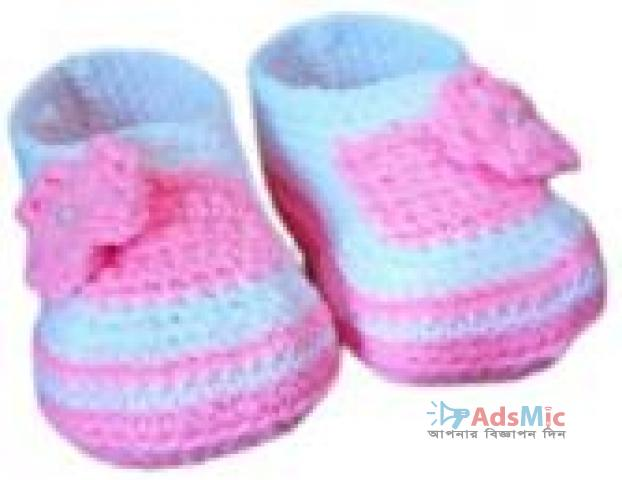 baby Shoe Pink and Blue Mix