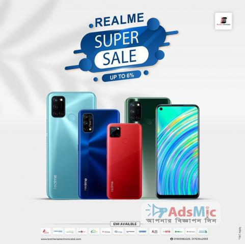 Buy Realme Official Smartphone from Brothers Electronics and Get up to 6% Discount