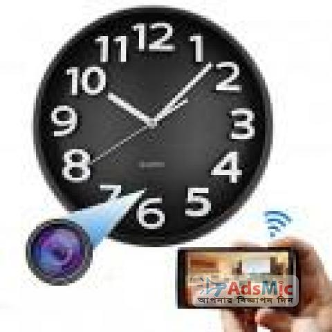 Quartz Wall Clock WiFi Hidden Spy Camera